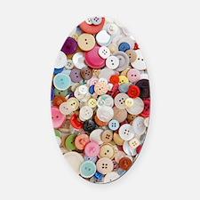 Button, Button Oval Car Magnet
