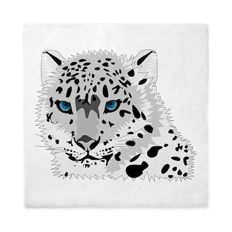 Snow Leopard Queen Duvet By Animalsandwildlifegifts2