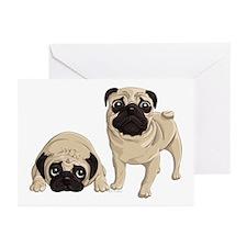 Pugs Greeting Cards (Pk of 10)