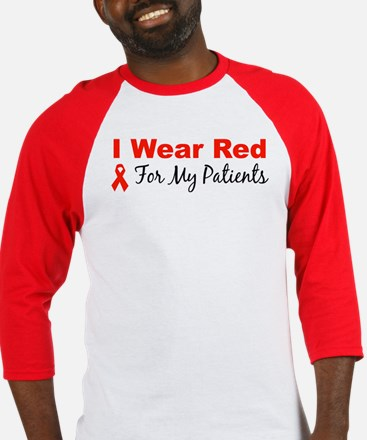 I Wear Red For My Patients Baseball Jersey