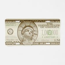 Million Dollars Aluminum License Plate