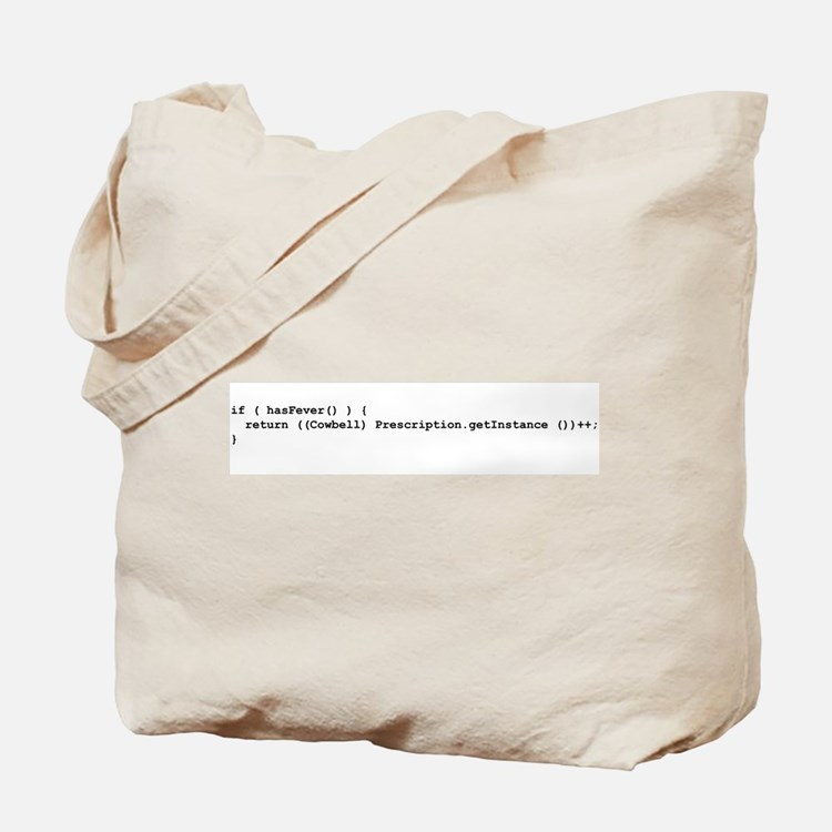 More Cowbell Code Tote Bag
