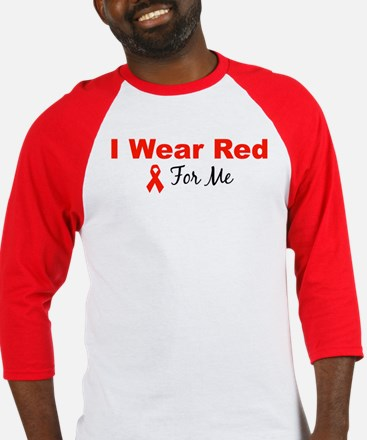 I Wear Red For Me Baseball Jersey