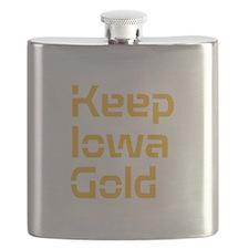 Keep Iowa Gold Flask
