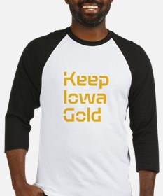Keep Iowa Gold Baseball Jersey