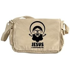 Jesus is whatching you Messenger Bag