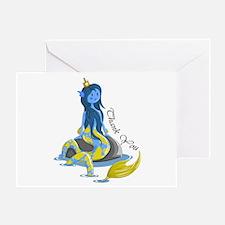 Mermaid Thank You Greeting Card