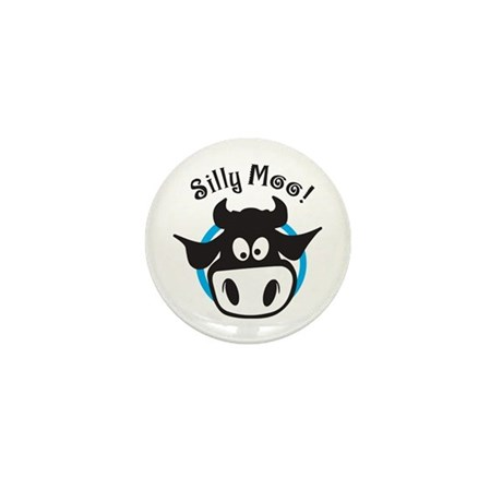Silly Moo Mini Button