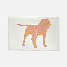 Bulldog Rays Rectangle Magnet