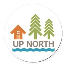 Up North Round Car Magnet