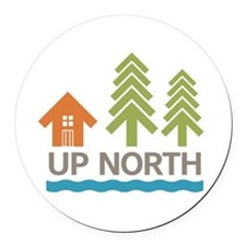 Up North Round Car Magnet