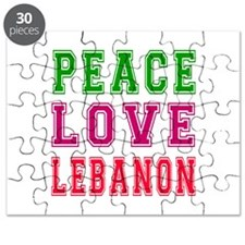 Peace Love Lebanon Puzzle