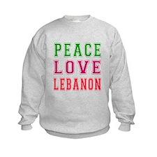 Peace Love Lebanon Sweatshirt