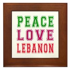 Peace Love Lebanon Framed Tile