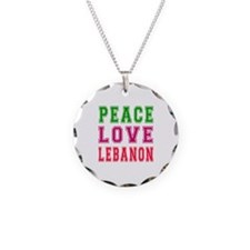 Peace Love Lebanon Necklace