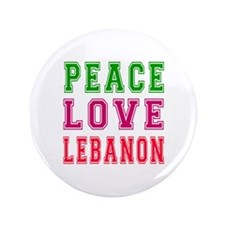 "Peace Love Lebanon 3.5"" Button (100 pack)"