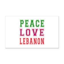 Peace Love Lebanon Rectangle Car Magnet