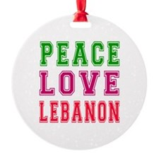 Peace Love Lebanon Ornament
