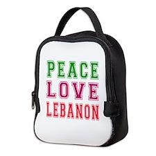 Peace Love Lebanon Neoprene Lunch Bag