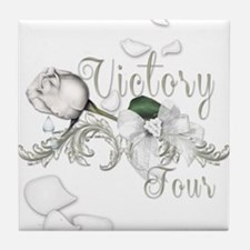 Victory Tour Tossed Rose Petals Tile Coaster