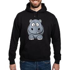 Cartoon Hippo Hoody