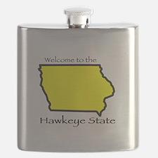 Hawkeye State t-shirt Flask