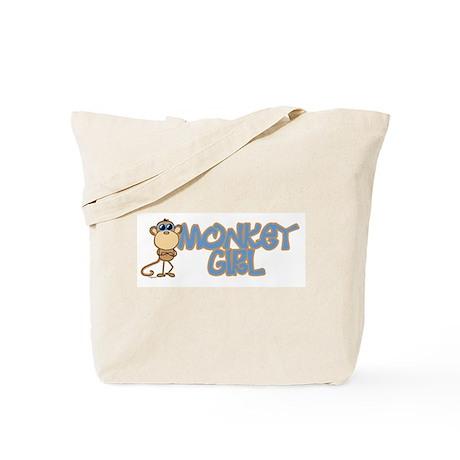 Monkey Girl Tote Bag