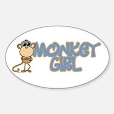 Monkey Girl Oval Decal
