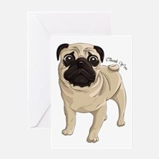 Pug Thank You Greeting Card
