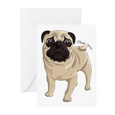 Pug Thank You Greeting Cards (Pk of 10)
