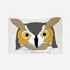 Whooo Are you looking at? Rectangle Magnet