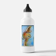 Goldfish, fish art, Water Bottle