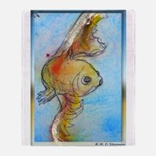 Goldfish, fish art, Throw Blanket