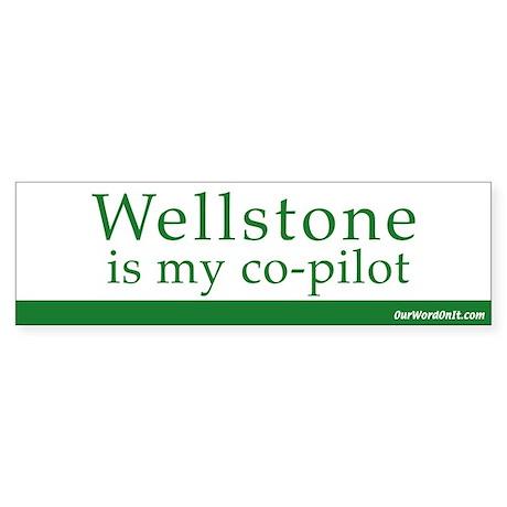 Bumper Sticker: Wellstone copilot
