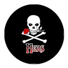 Jolly Roger - Hers Round Car Magnet