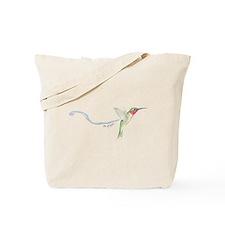 cheerful hummingbird Tote Bag