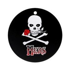 Jolly Roger - Hers Ornament (Round)