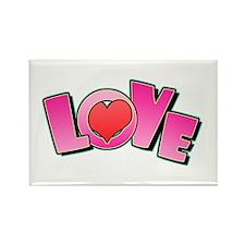 Love Valentine's Rectangle Magnet