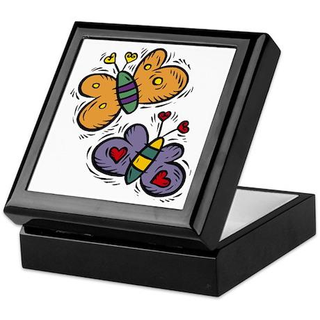 Butterflies with Hearts Keepsake Box