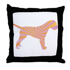 Border Terrier Rays Throw Pillow