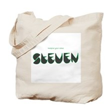 Steven black and green Tote Bag