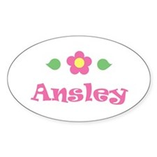 """Pink Daisy - """"Ansley"""" Oval Decal"""