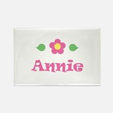 """Pink Daisy - """"Annie"""" Rectangle Magnet"""