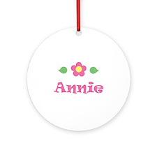 """Pink Daisy - """"Annie"""" Ornament (Round)"""