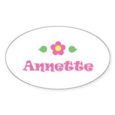 """Pink Daisy - """"Annette"""" Oval Decal"""