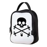 Skull and Cross Fitness Neoprene Lunch Bag