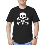 Skull and Cross Fitness Men's Fitted T-Shirt (dark