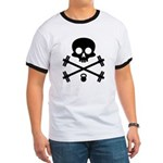 Skull and Cross Fitness Ringer T