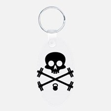 Skull and Cross Fitness Keychains
