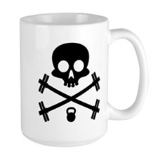 Skull and Cross Fitness Ceramic Mugs